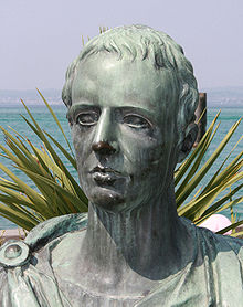 This is a modern statue of Catullus. We have no idea what Catullus really looked like, except that he died at about 30, so he was never as old as this statue seems to be.