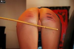 caned girl