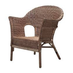 The wicker chair. Dedicated to discomfort.