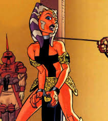 Ahsoka Tano as slavegirl. Like DC's Harley Quinn, Ahsoka Tano escaped from corporate ownership, and now leads a complex, internet-based sex life..