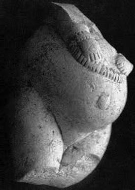 Kostenski Venus figurine, with her wrists bound