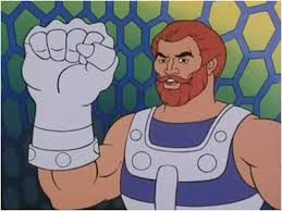 Fisto. Apparently there was another character in He-Man cartoons who was called Ram-Man. Maybe he was an Aries.