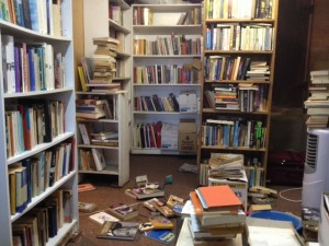 """Of the organising of books there is no end, and too much shelving is a weariness unto the flesh."" As Einstein said, on the internet. Or possibly Oscar Wilde."