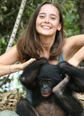 This is Vanessa Woods, a primatologist who's lived with bonobos and contributed a lot to our knowledge of their social structures. She's not responsible at all for suggesting a connection between bonobos and bdsm.