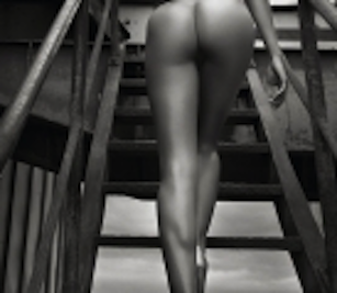 naked on steps
