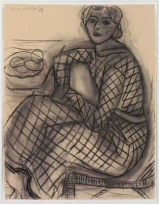 Matisse: Young woman in a net dress