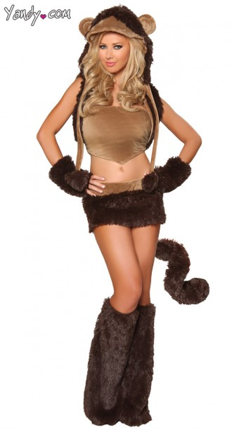 This, apparently, is a Sexy Monkey costume. I'm not sure that real monkeys would recognise it.