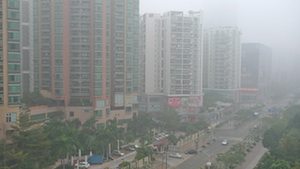 Shenzhen in the smog