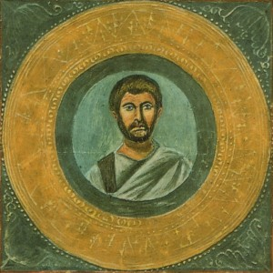 No-one really knows what Terence looked like. The Vatican, and Wikipedia, pretend this is his portrait.