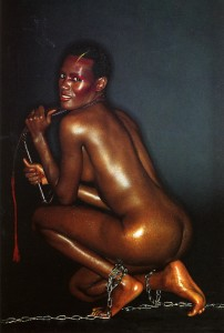 Grace Jones in chains, and the 1970s. The Pelican Club is always in about 1928, and Carstairs' story seems to date from abut 1870. Pardon, but your timeslips are showing.