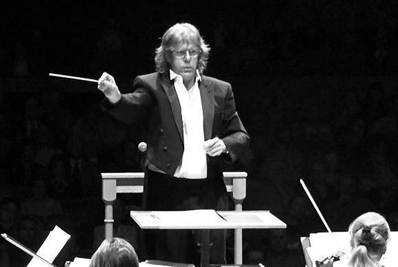 Emerson conducting his own music in the 2010s. Not sure which orchestra.