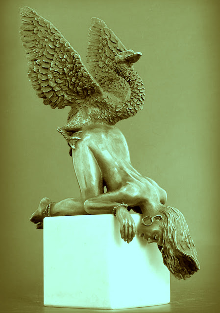"""Ahh, tickle your arse with a feather,"" shouted Zeus. Sculpture by Igor Zeinalov"