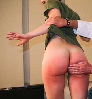 standing spanked