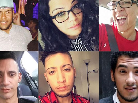 Some of the Orlando dead, from the Pulse Nightclub massacre of gay men and women and their friends