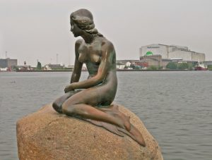 There Little Mermaid, in Copenhagen